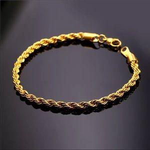 New 18K gold rope bracelet